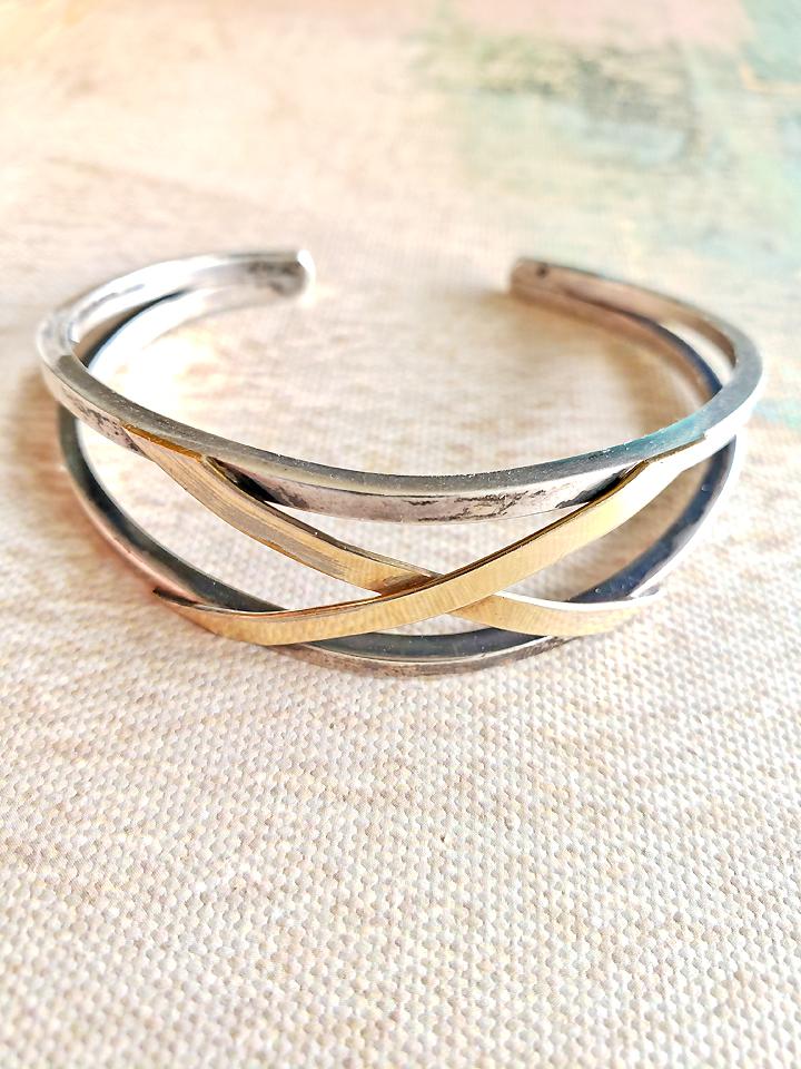Silver Cuff Bracelet Vintage