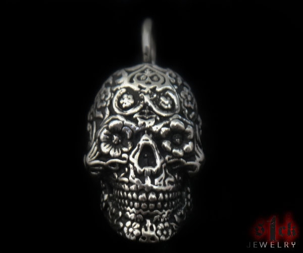 Dia de los muertos v2 pendant for men 925 sterling silver sterling silver handmade usa s1ck jewelry mozeypictures Choice Image