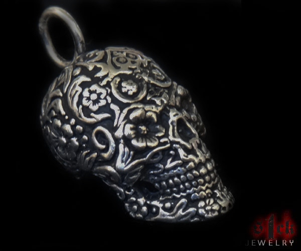 Dia de los muertos v2 pendant for men 925 sterling silver handmade men 925 sterling silver handmade usa s1ck jewelry mozeypictures Images