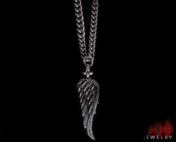 s mens shyne men necklace jewelers yellow gold angel image wing charm pendant