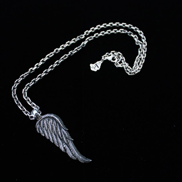 Fallen angel wing pendant for men 925 sterling silver handmade usa men 925 sterling silver handmade usa s1ck jewelry mozeypictures Images