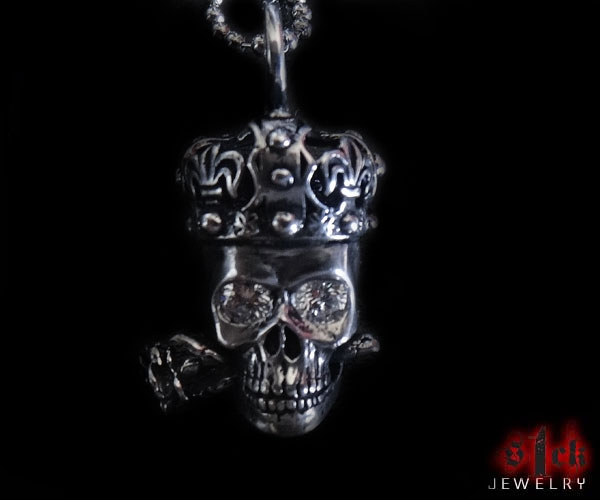 Sterling Silver Skull Pendants Tango v2 skull pendant for men 925 sterling silver handmade usa skull pendant for men 925 sterling silver handmade usa s1ck jewelry audiocablefo