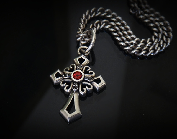 Crossing Bling Black Diamond Cross And Chain Edgy Jewelry